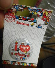 VHTF LOUNGEFLY Sanrio HELLO KITTY & Friends 50th Anniversary Button Pin New 2010