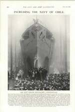 1903 Armstrong Whitworth Launch New Chile Battleship Constitucion