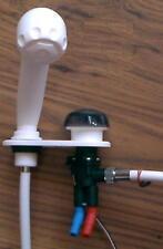 Wasserhahn Mischer k/w Dusche Brause ausziehbar weiß 71360pr NEU