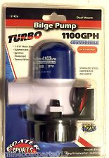 "BOAT BILGE PUMP, 1100 GPH, 1 1/8"" HOSE REQUIRED, BOATER SPORTS 57426"