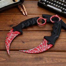 CSGO Karambit Knife Web Real Life Counter Strike ec Fixed Blade Tactical Knife