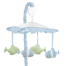 Sweet Jojo Designs Musical Mobile for Blue Go Fish Ocean Baby Crib Bedding Set
