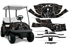 Club Car Precedent Golf Cart Graphic Kit Wrap Parts AMR Racing Decals REAPER BLK