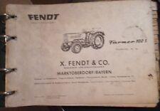 Fendt Traktoren Farmer 102 S Ersatzteilliste