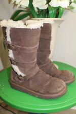 UGG 1001520 Brown Maddi Tall Kids JUNIOR Boots Size 6 (UGG100)