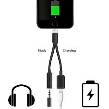 2in1 Lightning to 3.5mm Earphone Jack Adapter Charge Cable for iPhone 7/7 Plus