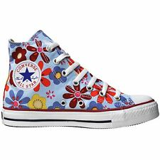 CONVERSE ALL STAR SCHUHE CHUCKS EU 37 UK 4,5 FLOWERS BLAU 1P691 LIMITED EDITION