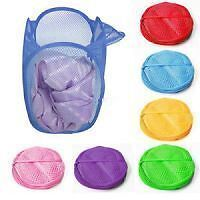 3x Laundry Basket Laundry Pop Up Bag Storage Clothes Toys Qty 3 PCs