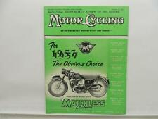 October 1956 MOTORCYCLING Magazine Matchless Clubman G80S 500 L8441