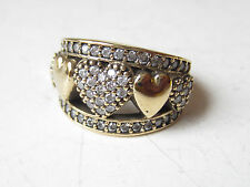 925 Sterling Silver Turkish Authentic Hurrem Sultan White Topaz HEART Ring 8.5