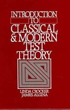 Introduction to Classical and Modern Test Theory  Algina Crocker