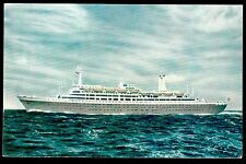 vintage Holland America new flag ship SS Rotterdam advertising postcard
