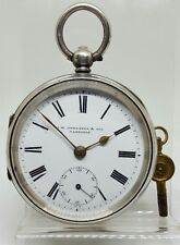 Antique solid silver gents J.W. Johnston & Son Carlisle pocket watch 1902 gwo