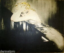 VINTAGE PAINTING PRINT  ICART PIANO ART DECO ON CANVAS READY TO HANG  RARE