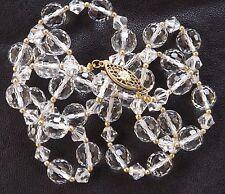 Collier Cristal autrichien par Swarovski. Facetté.  Vintage.