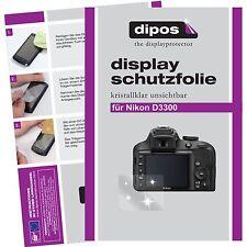 6x dipos Nikon D3300 Protector de Pantalla protectores transparente
