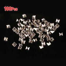 2X(100x 8mm Nieten Ziernieten Gotik Metall DIY Pyramiden Silber 216002 ET)