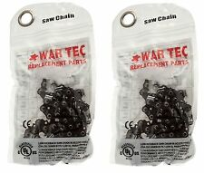 """WAR TEC 16"""" Chainsaw Chain Pack Of 2 Fits Some POWER DEVIL Chainsaws"""