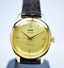HMT Kiran | Golden Dial | 17 Jewels | Para Shock | Mechanical Watch