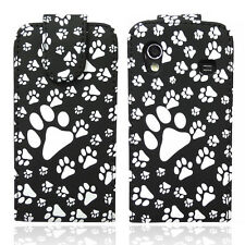 Paw Print PU Leather Flip Case, Cover Pouch For Various Phone Models