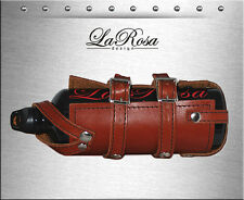 La Rosa Shedron Leather Harley Frame Bottle Strap On Holder + 30oz Fuel Bottle