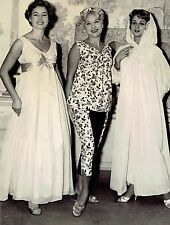 1958 Vintage Photo ladies model lingerie in fashion show at Hotel George V Paris
