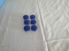 SET OF 6  MAMAS & PAPAS SWIRL PUSHCHAIR REPLACEMENT WHEEL CAPS IN BLUE.