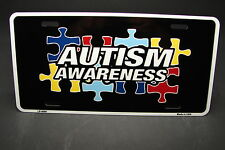 AUTISM AWARENESS METAL ALUMINUM CAR LICENSE PLATE TAG