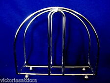 Sturdy Silver Color Stainless Steel Metal Napkin / Letter Holder - NEW