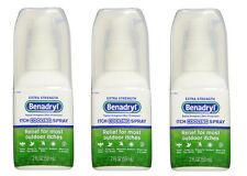 3 Pack - Benadryl Itch Relief Cooling Spray Extra Strength 2oz Each