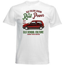 VINTAGE ITALIAN CAR FIAT UNO TURBO REAL POWER - NEW COTTON T-SHIRT