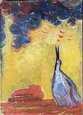 """""""LOVE SONG"""" oil  ACEO painting,original by Dora Pilssala"""