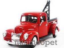 MOTORMAX 1940 40 FORD PICK UP TOW TRUCK 1/24 DIECAST RED
