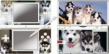 DS Lite - HUSKY PUPPY - 4 Piece Decal Sticker Skin UK NINTENDO DS LITE