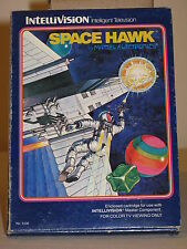Space Hawk Game for Intellivision I II Mattel overlays + instructions + Box