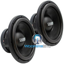 "(2) SD-2 12D2 SUNDOWN AUDIO SUBS 1000W SLIM MOUNT 12"" DUAL 2-OHM SUBWOOFERS"