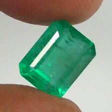 """CERTIFIED"" 2.82ct NATURAL EMERALD ~ TOP GREEN GOOD LUSTER ~ AAA PERFECT OCTAGON"