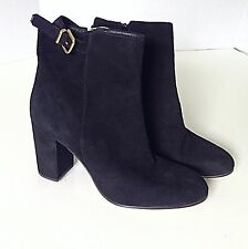 JCREW $258 Barrett Suede Ankle Boots sz 10 black shoes heels **see notes!