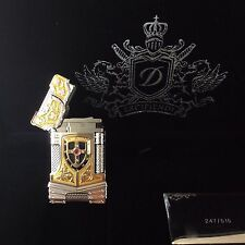 ST DUPONT WHITE KNIGHT PRESTIGE LIMITED EDITION LINGE LINE 2 GOLD LIGHTER LACQUE