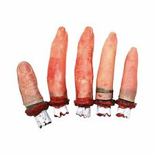 Halloween Severed Bloody Fingers Table Prop Horror Decoration - 5 Pieces