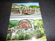 2 x Isle of Man Postcards Horse Tram Laxey Wheel  1970'S  PHOTOGRAPH POSTCARDs