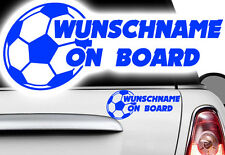 1x Aufkleber WUNSCHNAME ON BOARD Sticker Hangover Baby Tor Kind Fußball Ball xxx