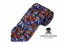 Lord R Colton Masterworks Tie - Brown Ruled By Secrecy Silk Necktie - $195 New