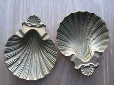 Due OTTONE MASSICCIO Conchiglia Sapone piatti o pin piatto Taglia 12cm da 14.5cm