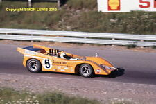 "McLaren M8D Denny Hulme , St Jovite Can Am 1970. colour 10x7"" photo"