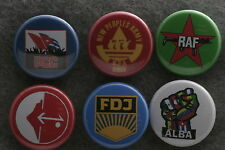 World Communist Party Button Badge Lot Set Cuba Germany ALBA Philippines PFLP