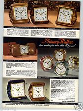 1957 PAPER AD 2 Sided Phinney Walker Folding Travel Alarm Clock Boudoir Desk