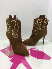 MICHAEL KORS 'Reena' Caramel Studded Sexy Ankle Booties Size 6.5M