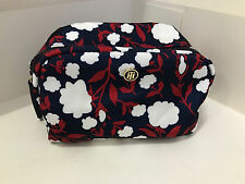 NEW! TOMMY HILFIGER FLORAL TRAVEL MAKEUP POUCH COSMETICS ORGANIZER KIT CASE $38