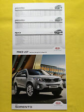 Kia Sorento KX official dealer marketing brochure May 2013 print MINT condition